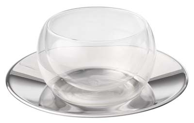 Tasse, double paroi en verre de 150ml 'Modern Art'